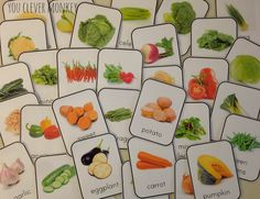 Create a print rich environment for your classroom or homeschool with these beautiful photo fruit and vegetable printable cards   youclevermonkey