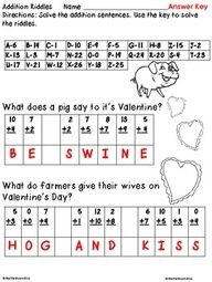 FREE Valentine's Addition Printables