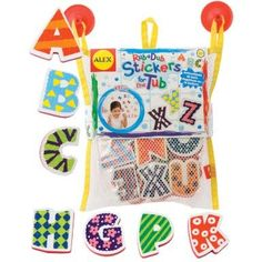 Stickers for the Tub ABC's by Alex Toys