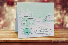 Christmas Card with Spellbinders