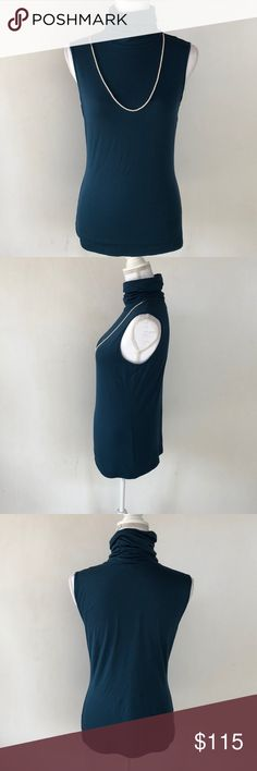 Lafayette 148 New York Teal Turtleneck Tank, M This beautiful Lafayette 148 Teal Turtleneck Tank, M is perfect for those professional and educational settings! Wear under a blazer or jacket durning those cold winter months! EXCELLENT CONDITION NO DEFECTS Lafayette 148 New York Tops