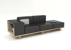 Stools Group PLC-Horizon Line by Pearson Lloyd 5 Living Furniture, Home Furniture, Furniture Design, Interior Design Process, Japanese Furniture, Wood Sofa, Modular Sofa, Best Sofa, 3 Seater Sofa
