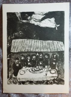 1956 Vintage Black and White Art Last Supper by FunFloridaVintage