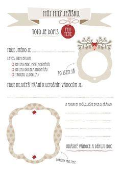 Dopis Ježíškovi - Praktická žena Advent, Cardmaking, Diy And Crafts, Christmas, Xmas, Navidad, Noel, Natal, Card Making