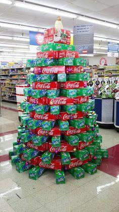 christmas coke sprite tree