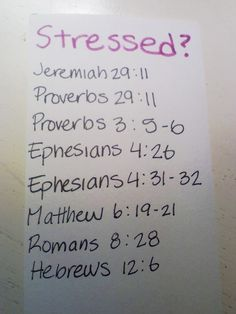 Stressed? There's a Scripture for that!