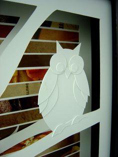 owl shadowbox