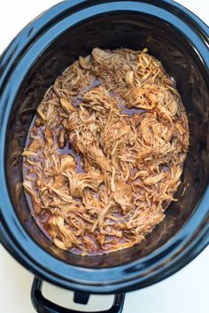 This Slow Cooker Shredded BBQ Chicken is an incredibly easy way to create tender, shredded BBQ chicken that can be used in a variety different meals. Slow Cooker Recipes, Crockpot Recipes, Chicken Recipes, Cooking Recipes, Whole Food Recipes, Healthy Recipes, Healthy Meals, Shredded Bbq Chicken, Time To Eat