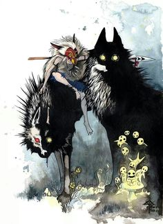 Awesome artwork of princess mononoke