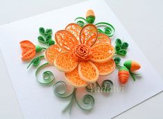 Quilled Paper Art Quilled Flower Paper Wall Art 3D by YadawiShop