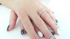 Twisted Wedding Band Ring with Amazing Nails Art.