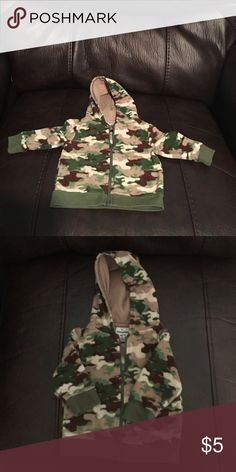 Camouflage Baby Hoodie size 0/3 months Adorable camouflage baby hoodie size 0/3 months Garanimals Jackets & Coats