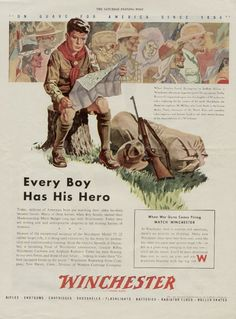 Winchester ad for boy scouts