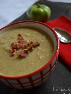 Green Tomato and Ham Soup