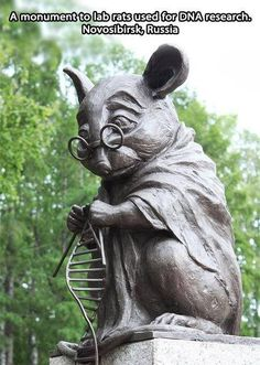 Monument to lab rats used for DNA research