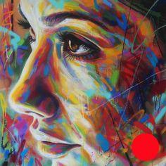 David WALKER | ''Jessica'' | -   | 2014 | Aérosol sur toile | 100 x 100 cm | <span>VENDUE</span>