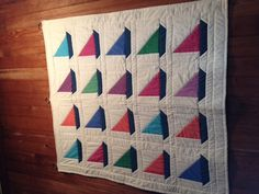 Sailboat quilt that mom said we could have.
