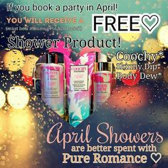 Message me at prbycassia@gmail.com to host a party. Or follow me on Facebook at Pure Romance by Cassia Ashton