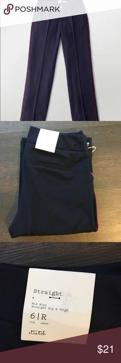 A. New. Day. Navy with red stripe dress pants 6R New with tags!   A. New. Day. From target dress pants. Size 6R. A new day Pants Trousers
