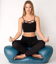 Alexia Meditation Seat Vegan Leather Chair Ergonomic Yoga Cushion Blue