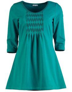 Deerberg Jersey-Longshirt Catrine kobaltgrün