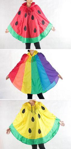 The Bangkok-based designers behind ILoveNoNameShop make ponchos cheerful enough to brighten up any rainstorm. #etsyfinds