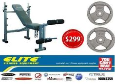 gumtree Bodyworx C340STB Weight Bench Package Elite Fitness Equipment Highpoint Melbourne Victoria