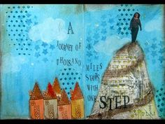 Mixed Media Art Journal Page - Journey This is excellent for first-time visual journaling!!