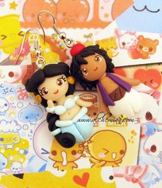 Alddin and Jasmine earrings handmade in italy by by AlchemianShop, €30.00