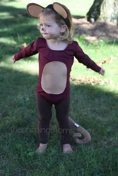 DIY Monkey using a brown leotard
