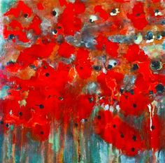 Poppies by Pat Forbes | acrylic painting | Ugallery Online Art Gallery