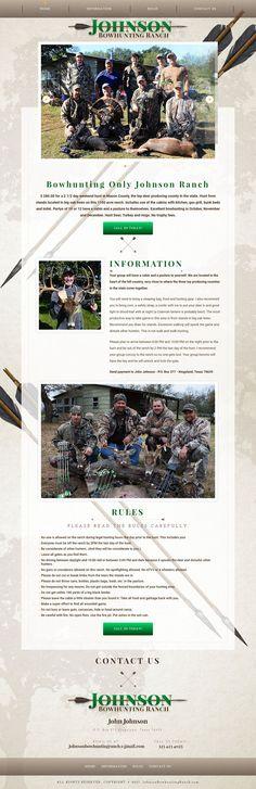 Web Design for Johnson Bow Hunting Ranch Kingsland Texas