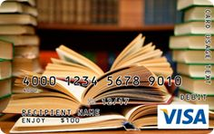 Stacks of Books Gift Card Custom Gift Cards, Personalized Gift Cards, Buy Gift Cards, Visa Gift Card, Stack Of Books, Book Gifts, Graduation Gifts, Favorite Quotes, Literature