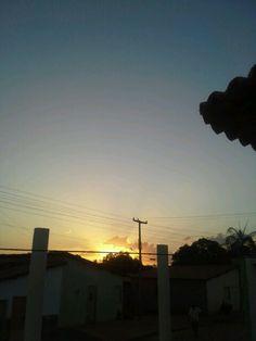 Pôr do sol visto do bairro Alto Caixa D'Água - São João do Piauí.