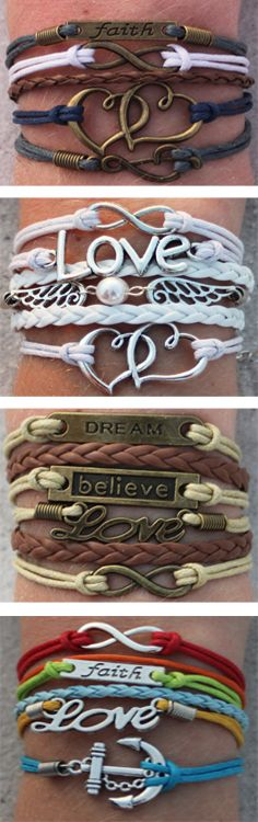 nice Love this cheap bridal gift idea! 3 FREE ModWrap bracelets (just pay shipping) U. Bracelets Design, Unique Bracelets, Charm Bracelets, Stackable Bracelets, Bohemian Bracelets, Handmade Bracelets, Cute Jewelry, Jewelry Crafts, Jewelry Accessories