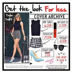 """""""Get the look for less ; Tαylor Swift. #O39"""" by flamepixie ❤ liked on Polyvore featuring Ann Taylor, NYX and Topshop"""