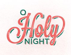 O Holy Night branding for TRCC's Christmas program.
