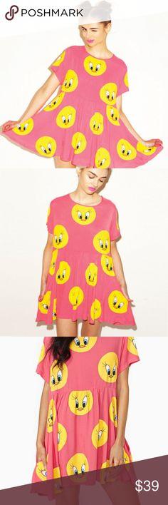 Lazy Oaf x Looney Tunes Sweet Tweet Dress NEW WITH TAGS! Lazy Oaf Dresses
