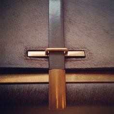 Luxurious Leather Lock Detail