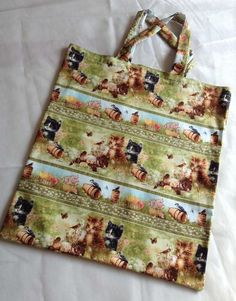 Cat TOTE bag £5.00 Reusable Tote Bags, Cats, Handmade, Gatos, Kitty, Hand Made, Serval Cats, Cat, Cat Breeds