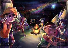 BoBoiBoy Galaxy : Camping by natiasewid Boboiboy Galaxy, 2017 Images, Cool Drawings, Photo Book, Husky, Camping, Fan Art, Deviantart, Gallery