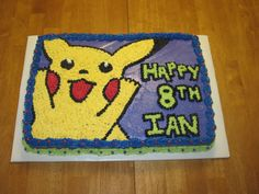 Pokemon cake.
