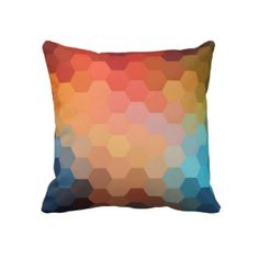 Rainbow Hexagon Chevron Pattern
