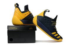 classic fit 64d28 d1ac4 Mens Adidas Harden Vol 2 Dark Blue Sunny Yellow Basketball Sneakers Zapatos  Vans, Zapatillas,