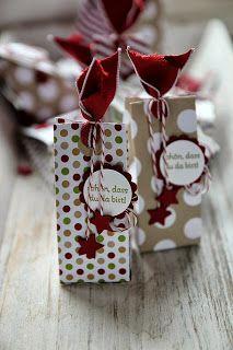"""kleine Weihnachtsverpackung mit Skizze - Format: n 4,5"""" x 6,5"""", falzen bei: quer bei 1,5"""" - 3"""" - 4.5"""" + 6 , Boden bei 1"""" lange + schmale Variante:bei 2"""", 3"""", 5"""" + 6"""" falzen"""