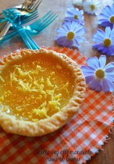 Frolla veg al burro di mandorle e crema al limone