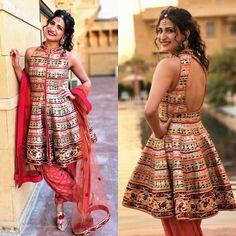 Pin by Cutipieanu on Women& clothing Garba Dress, Navratri Dress, Mehndi Dress, Choli Designs, Blouse Designs, Indian Dresses, Indian Outfits, Stylish Dresses, Casual Dresses