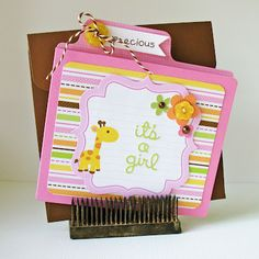 It's a Girl by Kathy Martin for #Doodlebug using Sugar & Spice