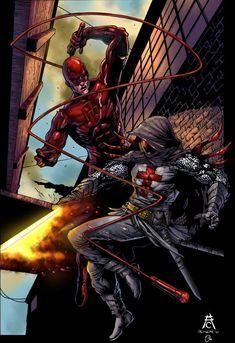 Marvel VS DC  Daredevil vs Azarel