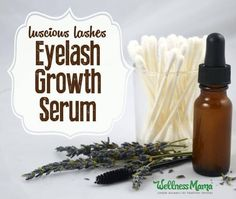 Natural Eyelash Growth Serum Recipe This natural DIY eyelash growth serum makes a noticeable difference in eyelash length in a few weeks without chemicals or eyelash extensions. Natural Eyelash Growth, Eyelash Growth Serum, Diy Eyelash Serum, Eyelash Enhancer, Eye Serum, Be Natural, Natural Beauty Tips, Natural Skin, Natural Makeup